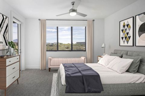 Desert Modern Townhome Bedroom at Camden North End Apartments in Phoenix, AZ