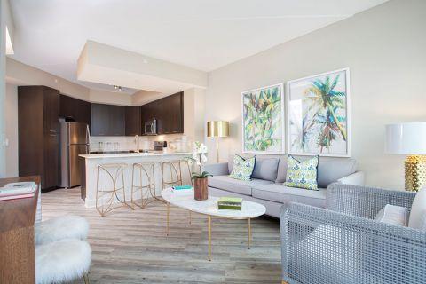 Home Office at Camden North Quarter Apartments in Orlando, Florida
