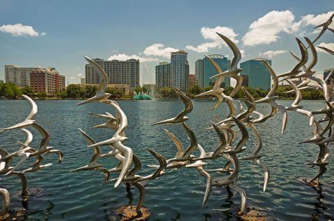 Lake Eola Sculpture near Camden North Quarter Apartments in Orlando, Florida