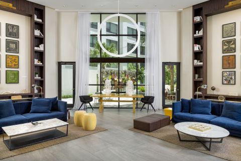 Leasing Center Lobby at Camden North Quarter Apartments in Orlando, Florida