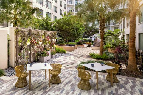 Zen Garden at Camden North Quarter Apartments in Orlando, Florida