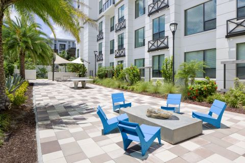 Outdoor Entertainment Area at Camden North Quarter Apartments in Orlando, Florida