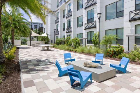 Outdoor Entertainment Area at Camden North Quarter Apartments in Orlando, Florida