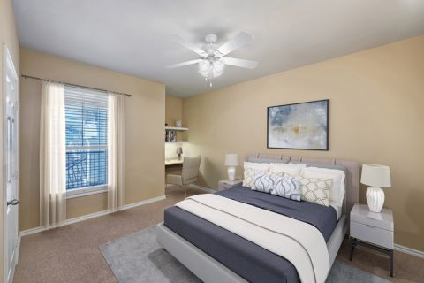 Bedroom at Camden Northpointe Apartments in Tomball, TX