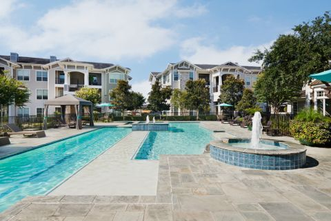 Resort-Style Swimming Pool at Camden Northpointe Apartments in Tomball, Texas