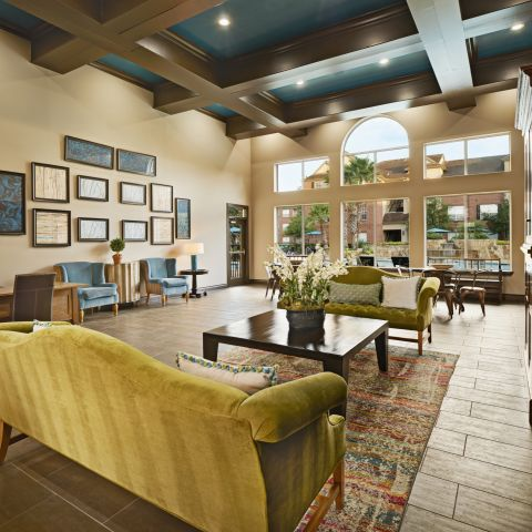 Welcome Center Lobby at Camden Oak Crest Apartments in Houston, TX