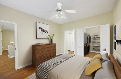 Bedroom at Camden Oak Crest Apartments in Houston, TX