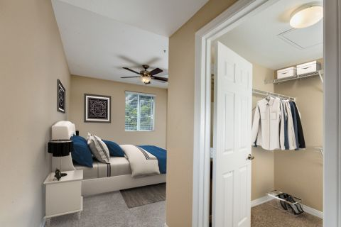 Bedroom and Closet at Camden Old Creek Apartments in San Marcos, CA