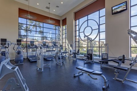 Fitness Center with Cardio Equipment at Camden Old Creek Apartments in San Marcos, CA