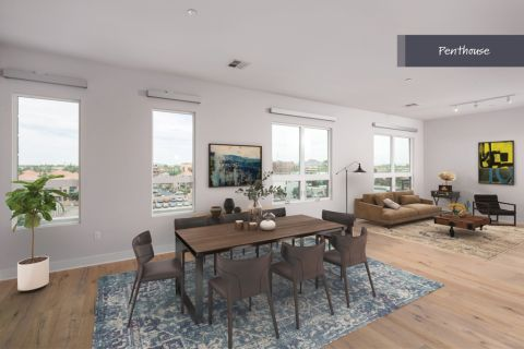 Penthouse Dining Area at Camden Old Town Scottsdale Apartments in Scottsdale, AZ