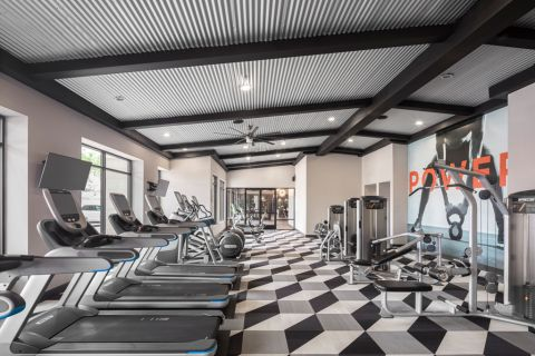 Fitness Center with Cardio Machines at Camden Old Town Scottsdale Apartments in Scottsdale, AZ