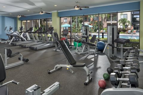 Fitness Center at Camden Orange Court Apartments in Orlando, FL