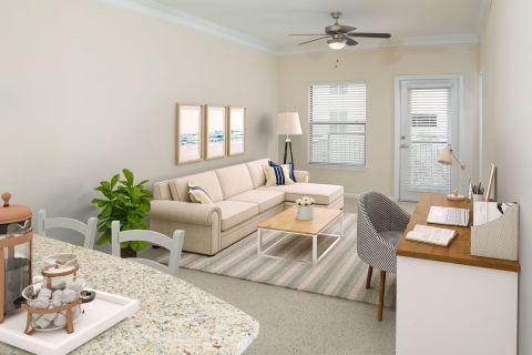 Home Office at Camden Orange Court Apartments in Orlando, FL