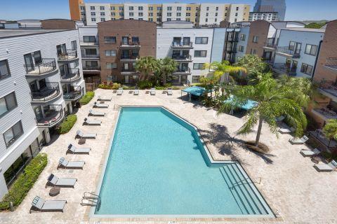 Pool at Camden Orange Court Apartments in Orlando, FL