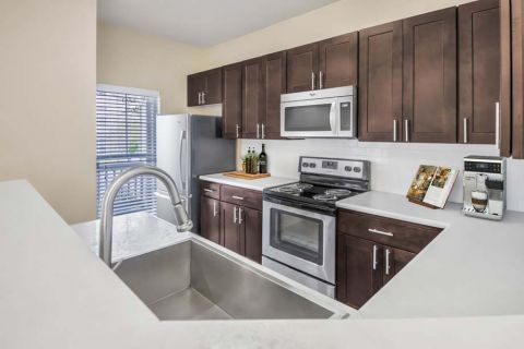 Kitchen at Camden Overlook Apartments in Raleigh, NC
