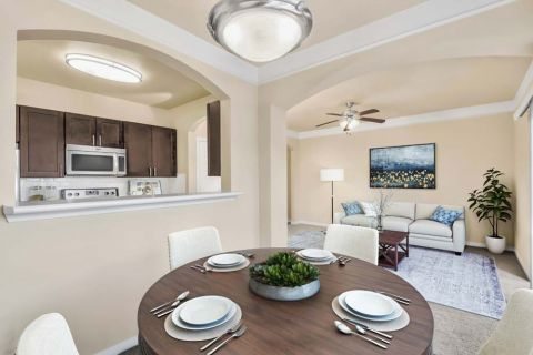 Dining table at Camden Overlook Apartments in Raleigh, NC