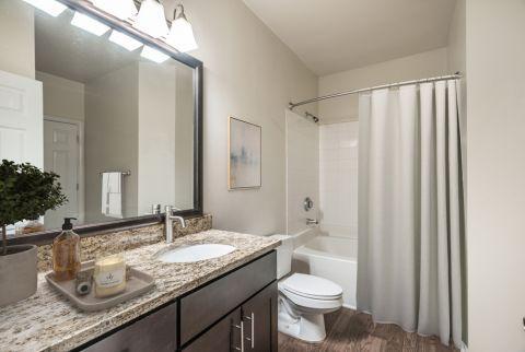 Bathroom at Camden Overlook Apartments in Raleigh, NC