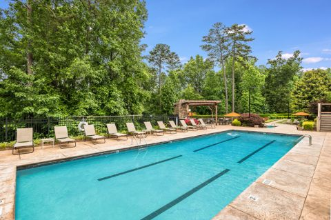 Lap Pool at Camden Overlook Apartments in Raleigh, NC