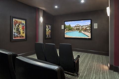 Movie Theater at Camden Overlook Apartments in Raleigh, NC