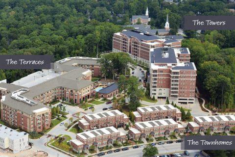 Apartments Aerial View at Camden Paces Apartments in Atlanta, GA