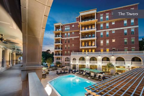 Swimming Pool at The Towers at Camden Paces Apartments in Atlanta, GA