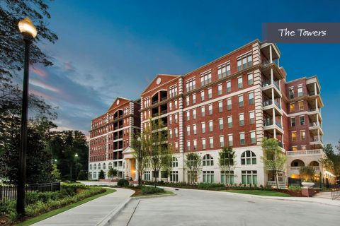 Exterior at The Towers at Camden Paces Apartments in Atlanta, GA