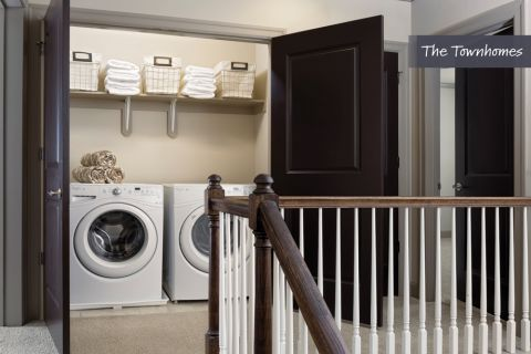 Laundry Room at The Townhomes at Camden Paces Apartments in Atlanta, GA