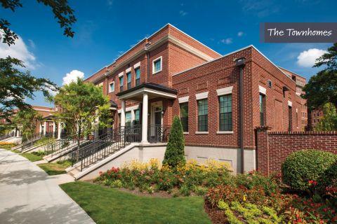 Exterior of several Townhomes at Camden Paces Apartments in Atlanta, GA