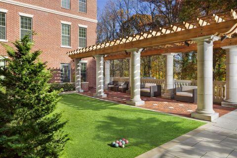 Bocce Ball Courtyard at Camden Paces Apartments in Atlanta, GA