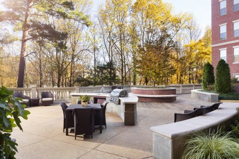 Outdoor Grilling Area at Camden Paces Apartments in Atlanta, GA