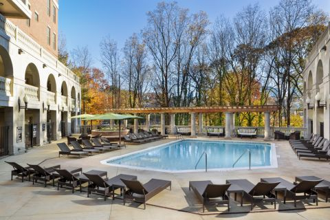 The Towers Swimming Pool at Camden Paces Apartments in Atlanta, GA