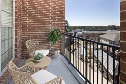 Balcony at Camden Paces Apartments in Atlanta, GA
