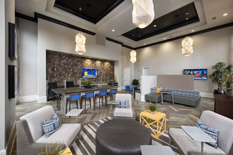 Resident Lounge at Camden Paces Apartments in Atlanta, GA