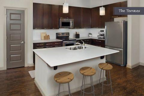 Kitchen at The Terraces at Camden Paces Apartments in Atlanta, GA
