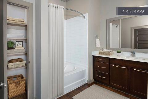 Bathroom at The Terraces at Camden Paces Apartments in Atlanta, GA