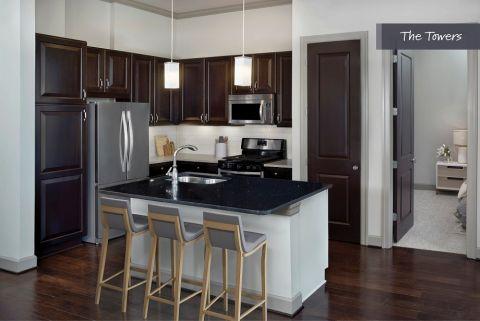Kitchen at The Towers at Camden Paces Apartments in Atlanta, GA