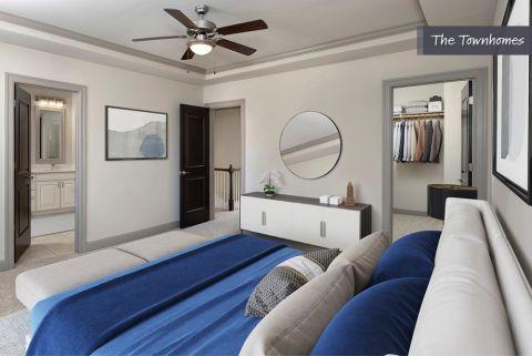Bedroom at the Townhomes at Camden Paces Apartments in Atlanta, GA