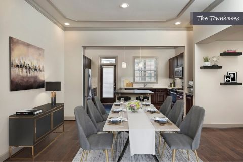 Dining and Kitchen at the Townhomes at Camden Paces Apartments in Atlanta, GA