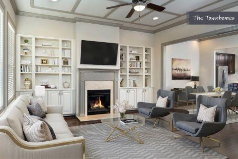 Living Room at the Townhomes at Camden Paces Apartments in Atlanta, GA