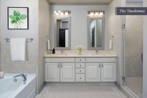 Bathroom at the Townhomes at Camden Paces Apartments in Atlanta, GA