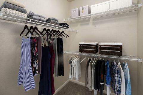 Large closet at Camden Panther Creek Apartments in Frisco, TX