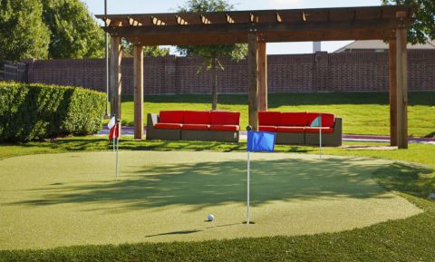 Putting green at Camden Panther Creek apartments Frisco, TX
