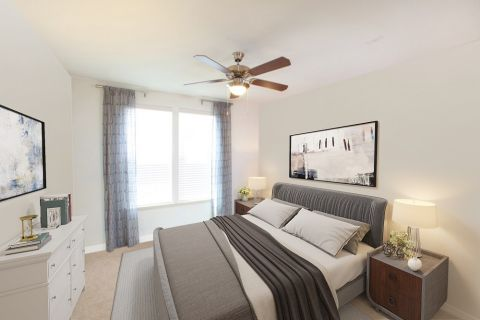 Bedroom at Camden Panther Creek Apartments in Frisco, TX