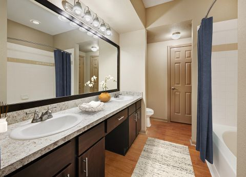 Bathroom at Camden Park Apartments in Houston, TX