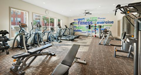 Fitness Center at Camden Park Apartments in Houston, TX