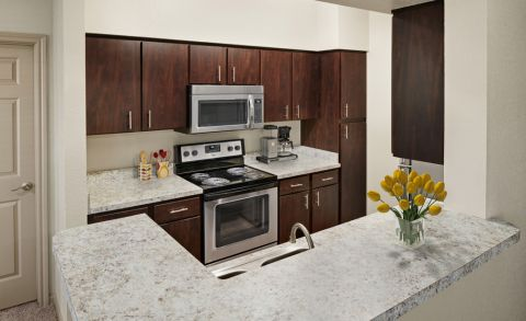 Kitchen at Camden Park Apartments in Houston, TX