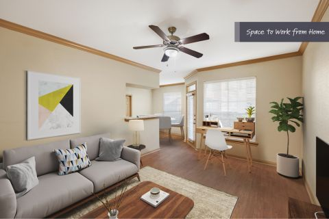 Space to Work from Home at Camden Park Apartments in Houston, TX