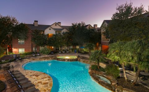 Pool at Camden Park Apartments in Houston, TX