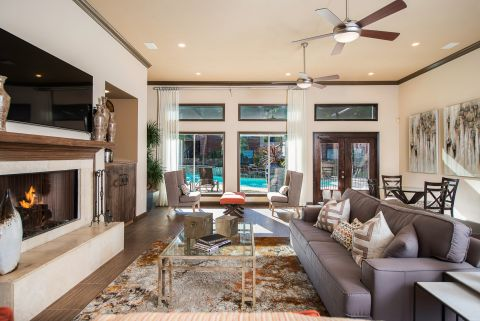Social Lounge at Camden Park Apartments in Houston, TX