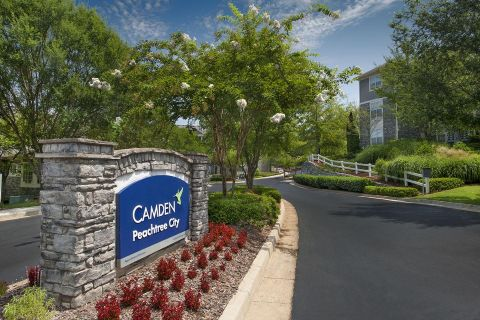 Entrance at Camden Peachtree City Apartments in Peachtree City, GA